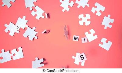 rebondir, lettres, spelli, plastique