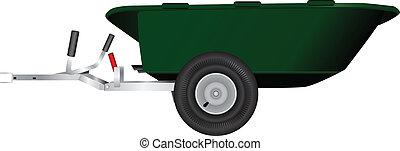 reboque, carrinho de mão