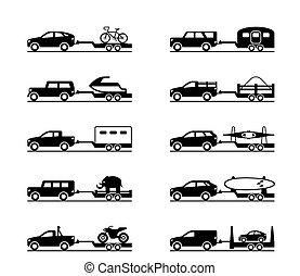 reboques, furgões, caminhões camionete