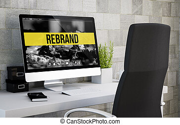 rebrand, industriel, espace de travail