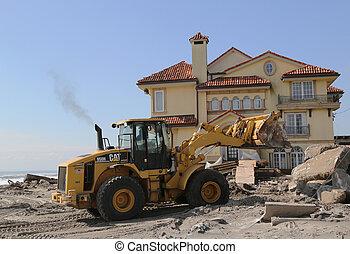 rebuilding, ハリケーン, 砂, 後で