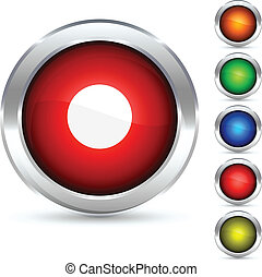 rec button. - rec detailed button. Vector illustration.