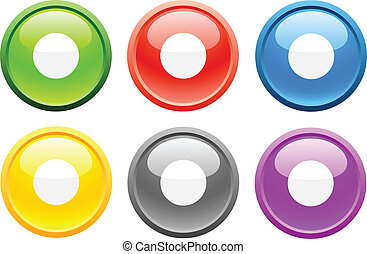 Rec. [Vector] - 6 high-detailed buttons. Rec. Vector ...