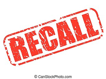 Recall red stamp text on white