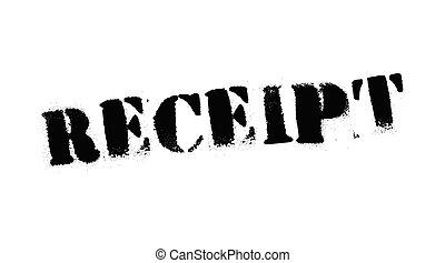 Receipt black stamp, sign, label Black stencil series