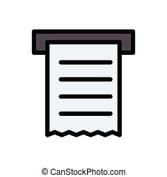 receipt  flat color icon