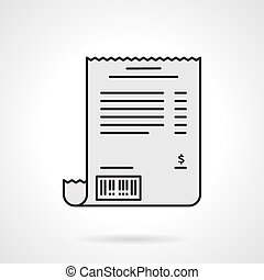 Receipt flat color vector icon