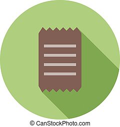Receipt, invoice, bill icon vector image. Can also be used...