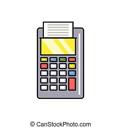 receipt line flat icon