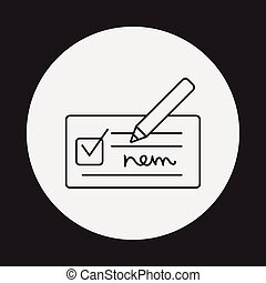 receipt line icon