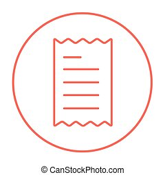 Receipt line icon. - Receipt line icon for web, mobile and...