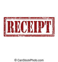 Grunge rubber stamp with word Receipt, vector illustration
