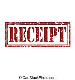 Receipt-stamp - Grunge rubber stamp with word Receipt,vector...