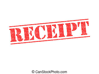 RECEIPT rubber stamp over a white background.