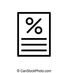receipt thin line icon