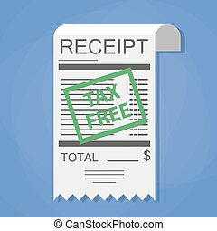 Receipt with green tax free stamp