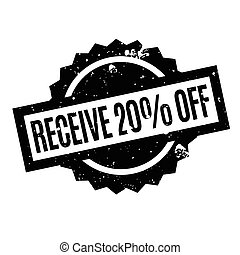 Receive 20 Off rubber stamp. Grunge design with dust...