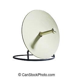 Receiver.Satelite dish isolated on white backgroun