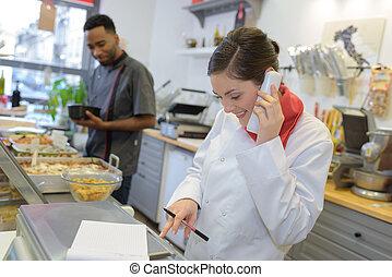 receiving an order