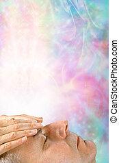 Receiving healing energy through crown chakra
