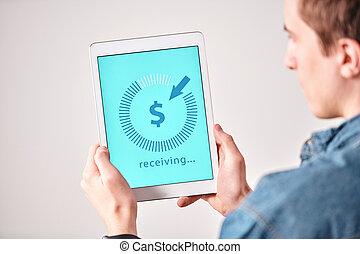 Receiving money online