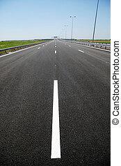 recentemente, costruito, autostrada
