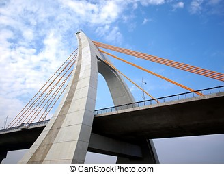 Recently Completed Cable-Stayed Bridge - A modern single...