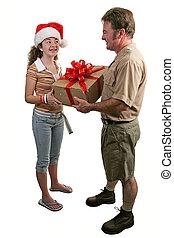 recepción de un regalo, 1