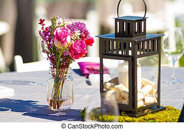 recepción wedding, tabla, detalles