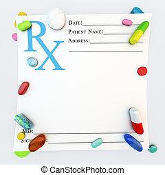 recept dient medicijnen toe