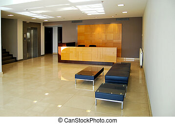 Reception and lobby - Empty lobby and reception desk