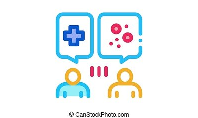 reception at dermatologist doctor consultation Icon Animation. color reception at dermatologist doctor consultation animated icon on white background
