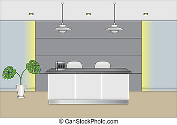 Reception Counter - Illustration vector