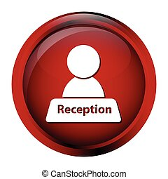 Reception icon on red button