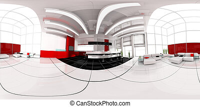Reception in hotel spherical panorama - Hall of hotel image...