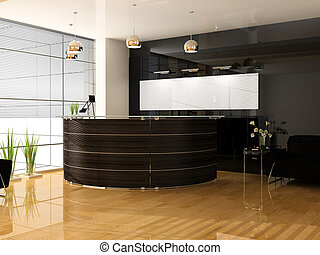 Reception in office - Reception in modern office