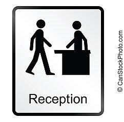 Reception Information Sign - Monochrome reception public ...