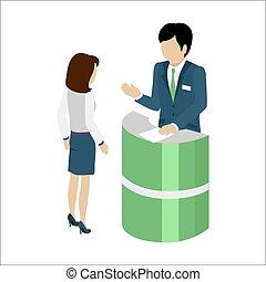 Reception Service Concept Vector Illustration. - Reception...