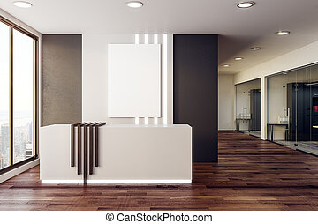 Reception with blank poster