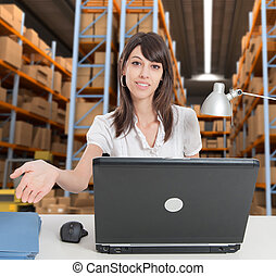 Receptionist at distribution warehouse a