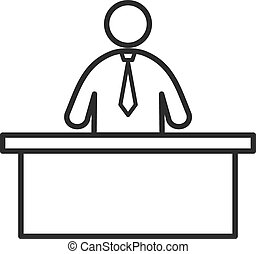 Receptionist, call, center icon vector image. Can also be ...
