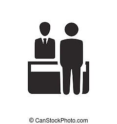 Receptionist, Customer Assistant Icon - Beautiful,...