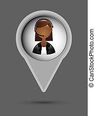 receptionist design - receptionist graphic design , vector...