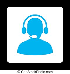 Receptionist Icon from Commerce Buttons OverColor Set