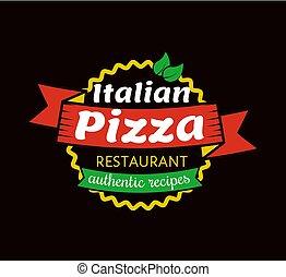 recepty, włoski, autentyczny, pizza, restauracja