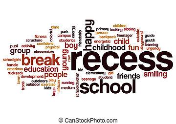 Recess word cloud concept
