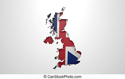 Recessed Country Map Britain - The shape of the country of...