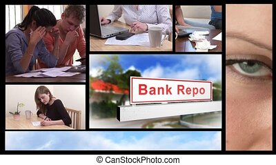 recessie, concept, economisch, animatie