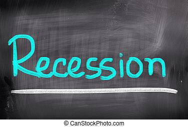 recessie, concept