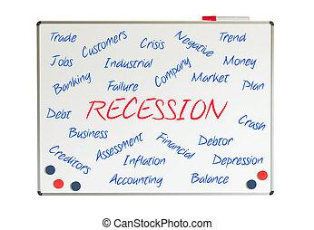 recessie, woord, wolk